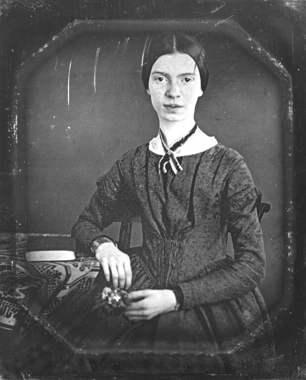 Daguerrotipo de Emily Dickinson,  Wikimedia Commons .